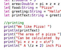 Swift Programming Language – Making App Pie