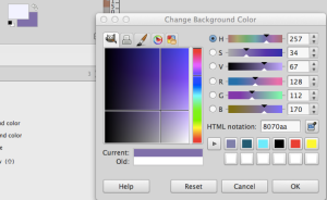 Select a background color in GIMP
