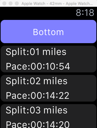 Tables and Scroll Views in WatchOS2 – Making App Pie