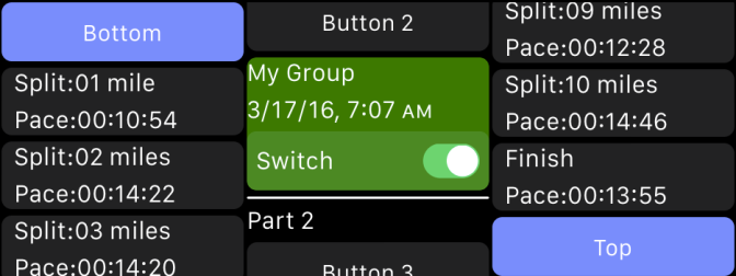 Tables and Scroll Views in WatchOS2