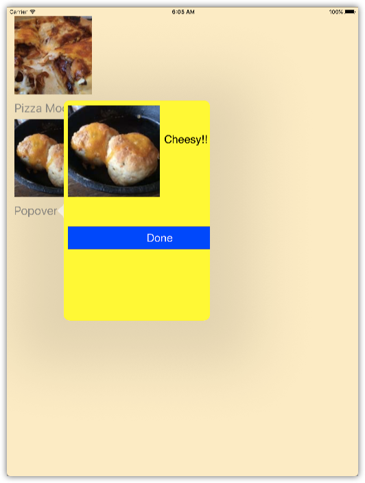 Adding Modal Views and Popovers in Swift 3.0