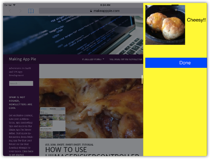 Adding Modal Views and Popovers in Swift 3 0 – Making App Pie