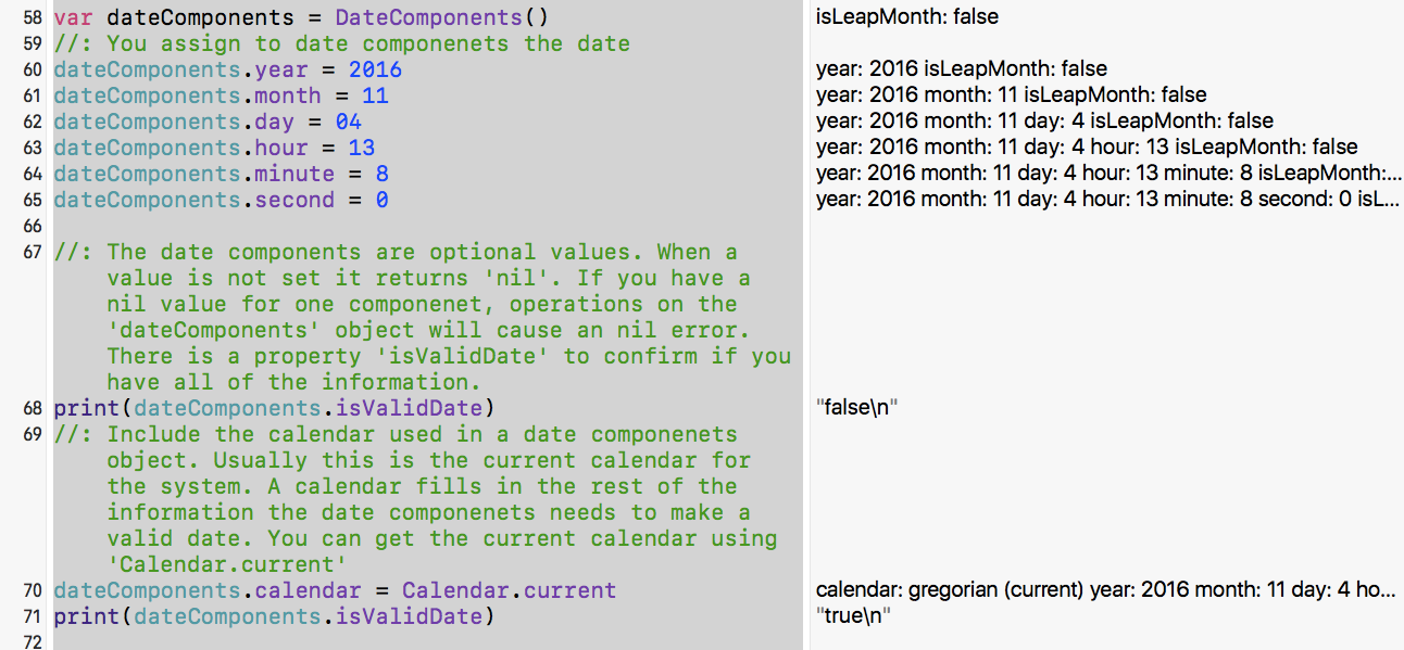 Using Date, TimeInterval, and DateComponents in Swift 3
