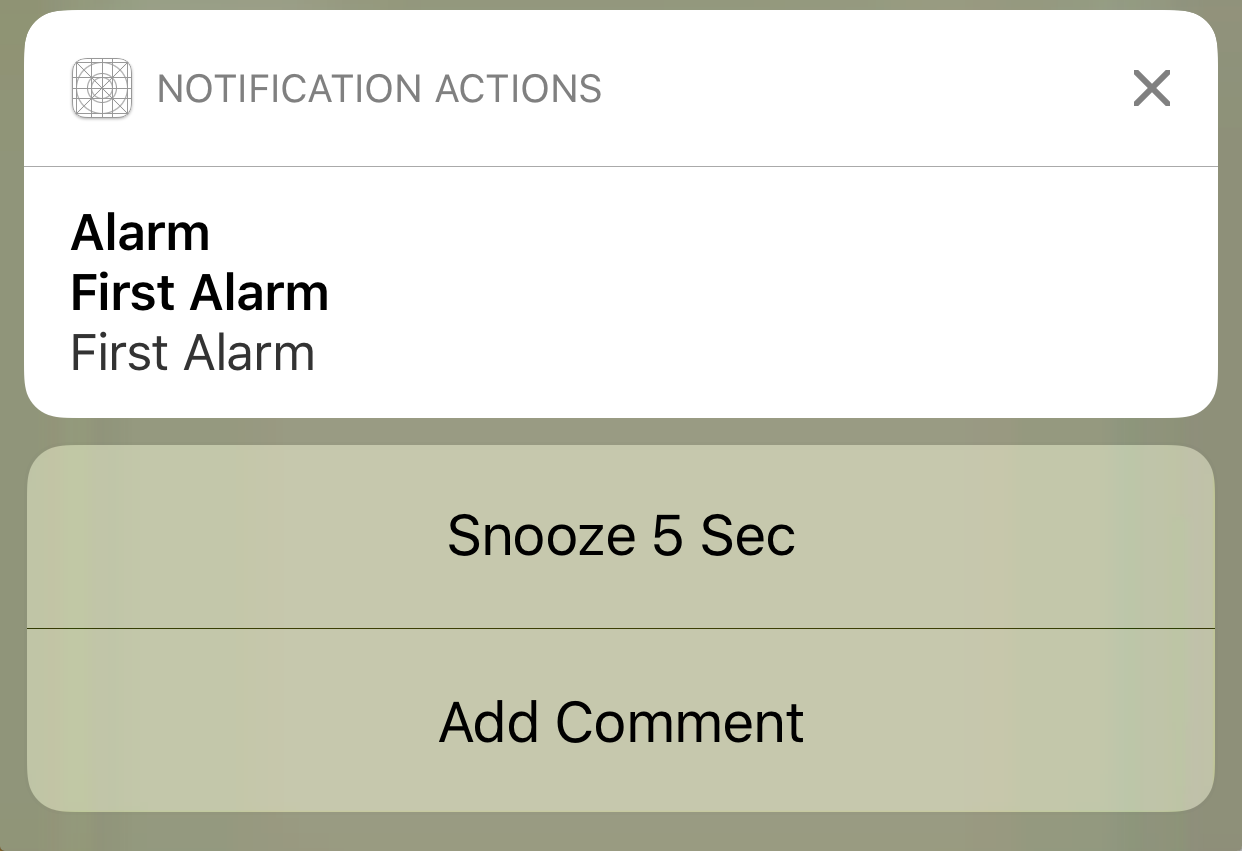 Add Actions and Categories to Notification in Swift – Making