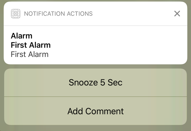 Add Actions and Categories to Notification in Swift