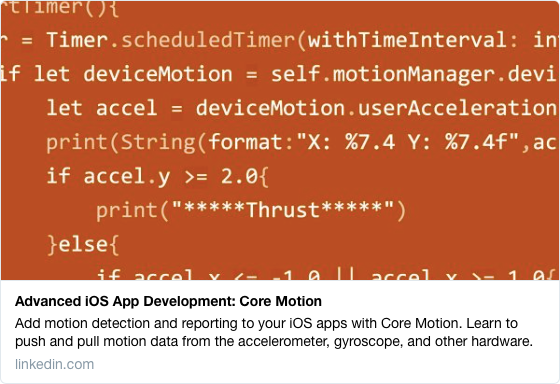 Advanced iOS App Development: Core Motion