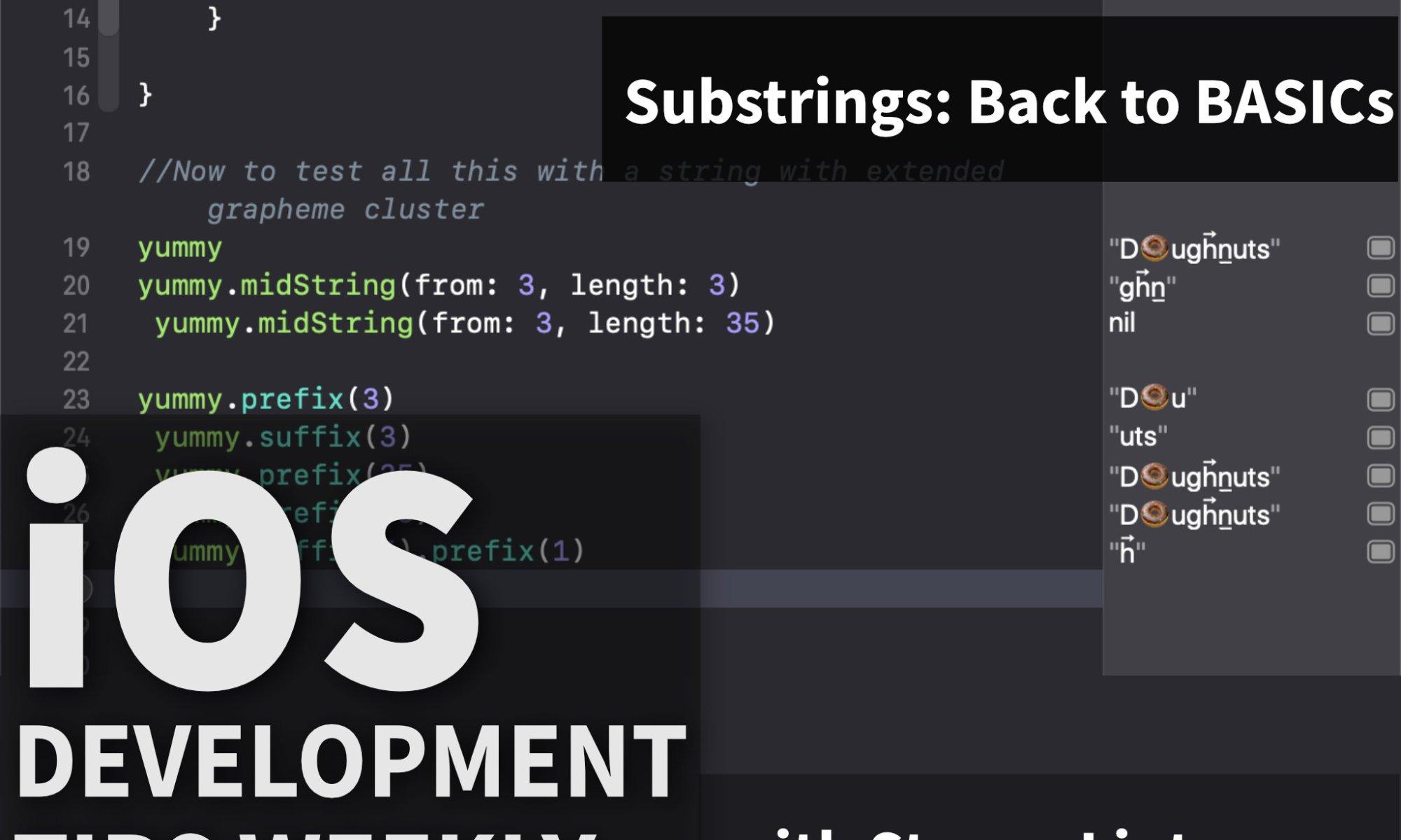 Strings in Swift: Going back to BASICs – Making App Pie